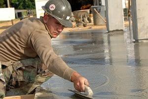 a concrete job